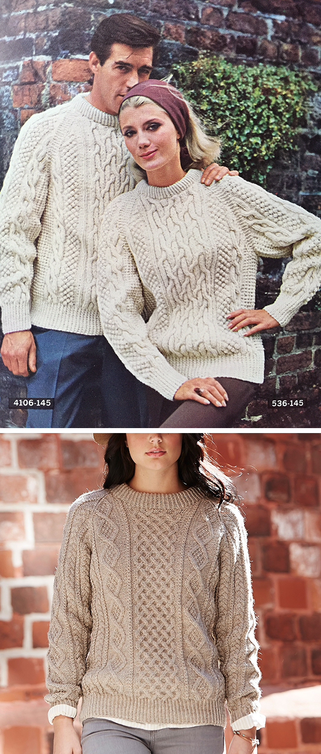 Knitting Patterns Fisherman s Rib Sweater : Make Your Own Basics: The fisherman sweater Fringe ...
