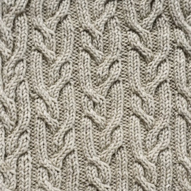 Swatch of the Month: Norah's cables