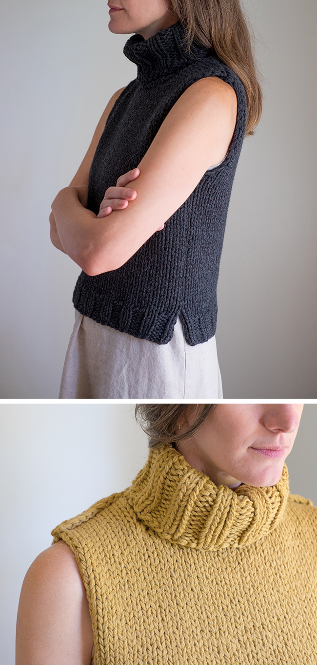 Sloper: Basic pattern for a simple sleeveless sweater