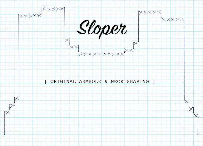 Sloper mods, part 2: Reshaping the pattern
