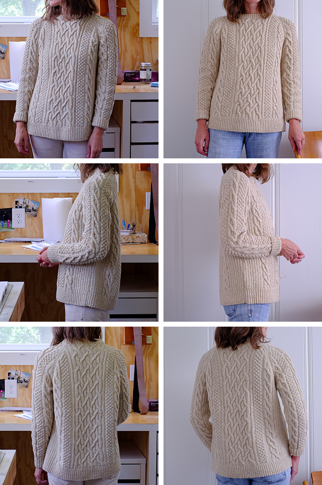 Before And After Fisherman Sweater Redux Fringe Association