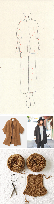 Idea Log: Cocoon cardigan