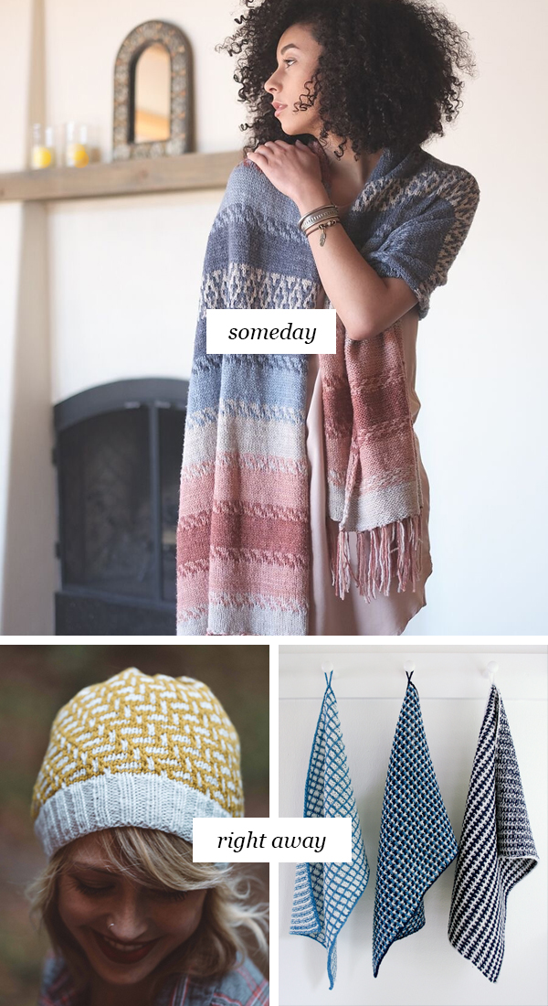 Someday vs Right Away: Mosaic knitting