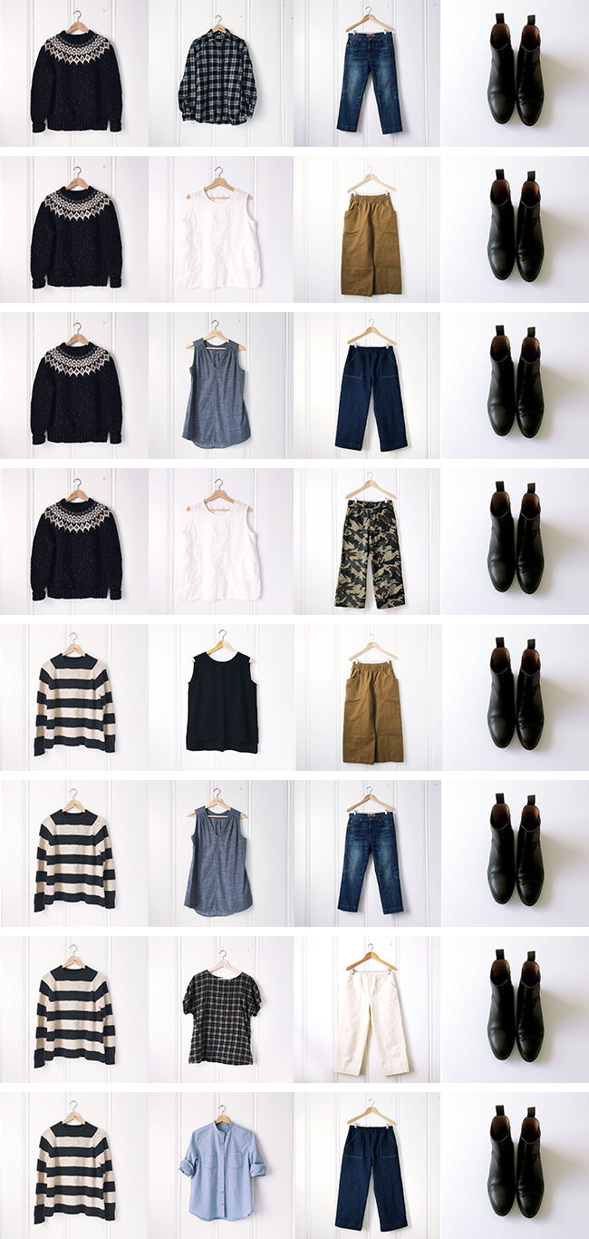 Deep Winter wardrobe: Outfits!