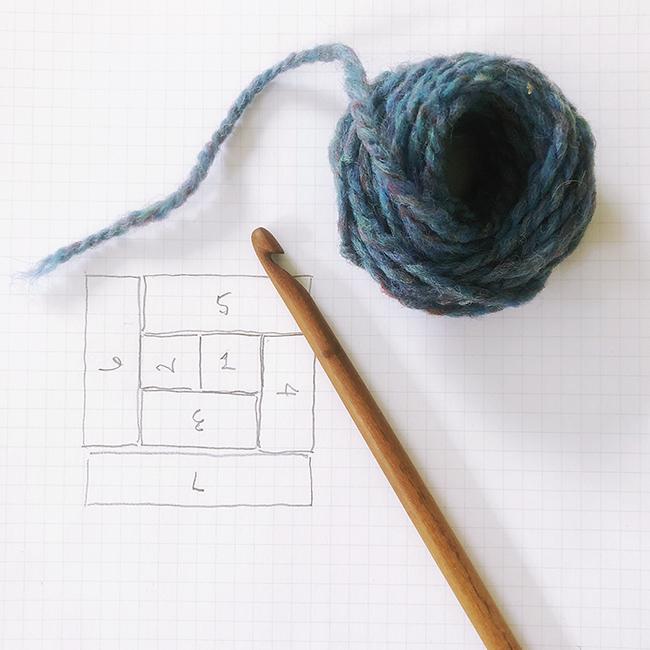 How to crochet Log Cabin