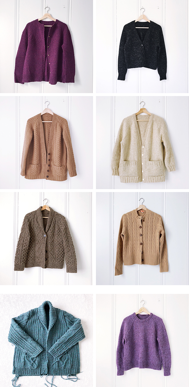 Sweater inventory, part 2: The cardigans