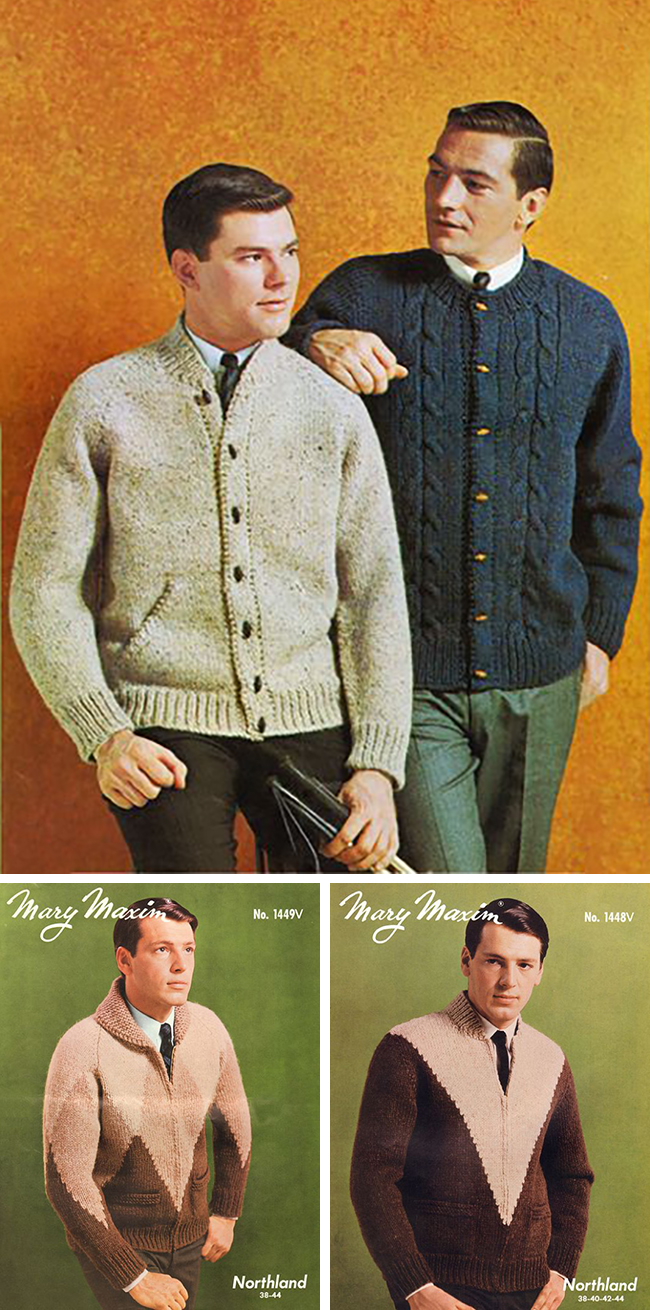 New Favorites: Vintage cardigan jacket knitting patterns